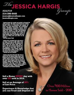 The Jessica Hargis Group would like to thank all of our friends, family, clients, and agents for helping us achieve these great milestone.  Over $100,000,000 in homes sold thus far in 2016!  Thank you for your support for choosing The Jessica Hargis Group!  http://qoo.ly/awkbz