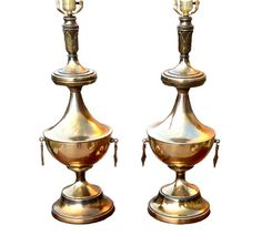 Pair of Art Deco Brass Lamps by CovingtonAvenue on Etsy, $275.00