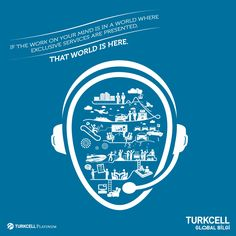 If the work on your mind is in a world where exclusive services are presented, that world is here.  Advertising Agency: Communique, İstanbul, Turkey