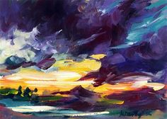 """Storm coming"" - Original Fine Art for Sale - © Mikko Tyllinen Acrylic Colors, Fine Art Gallery, Art For Sale, Watercolor, Artist, Artwork, Inspiration, Image, Acrylic Paintings"