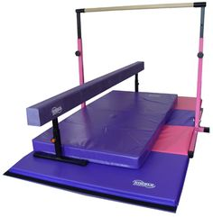 Little Gym Deluxe - Adjustable Bar - Adjustable Balance Beam - Folding Gymnastics Mat - Landing Mat