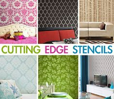 Cutting Edge Stencils - Featured Stencils    great tips too - like rolling off excess paint on a paper towel before painting over stencils (keeps paint from bleeding under stencile)