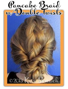 Elegant Hairstyles for Long Hair - Pancake Braid with Double Twists