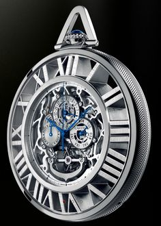 Cartier Pocket Watch... This is very classy.... blue.. and white... clean.. contemporary yet... classy... Very well made..