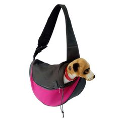 Pet Dog Cat Puppy Zip Travel Tote Shoulder Bag Sling Backpack Carrier (S size/Pink) * Click image for more details. (This is an affiliate link and I receive a commission for the sales)