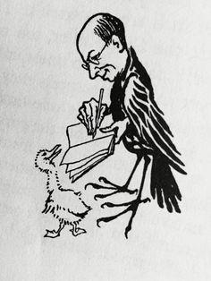 Arthur Rackham self-portrait... From Arthur Rackham Fairytales