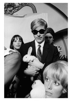 Andy Warhol & Catherine Deneuve. And bunnies.