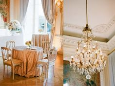 La Tavola Fine Linen Rental: New York Nude   Photography: KT Merry, Planning: Strawberry Milk Events & Styling, Florals: Soly Flor, Venue: Hotel Crillon, Paper Goods: Little Bit Heart, Calligraphy: Trial by Cupcakes, Rentals: Lanzani, Lighting: AZ Diffusion