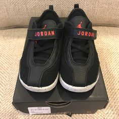 buy online 4db38 20d11 Nike Shoes   Euc Nike Air Jordan Reveal Toddler Tennis Shoes!!   Color   Black Red   Size  7c