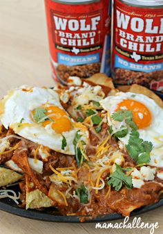 South of the Border style Texas Chiliaquiles to be Proud of! #BoldWolfChili #Ad #Mexican #Breakfast