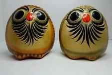 2 Vintage Mateo Tonala Mexico Folk Art Owl