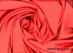 Coral Tahari Satin Fabric