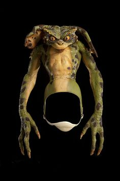 This green model of a gremlin was used in the 1990 live action horror comedy film Gremlins The New Batch, directed by Joe Dante via Siqueira Spencer Museum of American History, Smithsonian Eerie Photography, Dog Skeleton, Creepy Images, Hollywood Costume, Religious Images, Halloween Celebration, Comedy Films, Gremlins, Victoria And Albert Museum