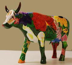 Georgia OKowffe (Museum Edition) on Shop CowParade Cows Mooing, Cow Parade, Cow Creamer, Sculpture Techniques, Cow Art, Concrete Planters, Arte Pop, Animal Sculptures, Yard Art