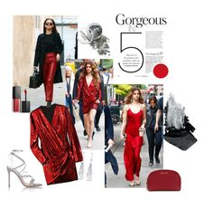 """""""Red"""" by bionixtina ❤ liked on Polyvore featuring Balmain, Allurez, Smashbox, MICHAEL Michael Kors, Gianvito Rossi and Gorgeous Cosmetics"""