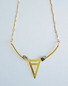 Mountaineer Pyrite Triangle Necklace — Eclectic Eccentricity Vintage Jewellery