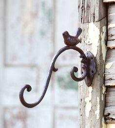 Large Cast Iron Bird Hook - Marmalade Mercantile