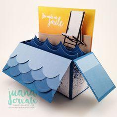 Stamp Review Crew - Colorful Seasons Blog Hop. Colorful Seasons Summer box card. Juana Create.