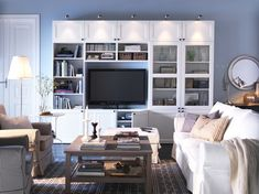 Besta at Ikea Ikea Design, Hemnes, Liatorp, Ikea Living Room, Front Rooms, Apartment Living, Home And Living, Family Room, Sweet Home
