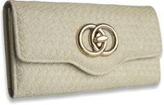 Dámska peňaženka kožená Locky, krémová