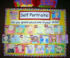 Parents evening - guess which one is your child - self portraits