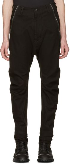057937592 JULIUS Black Twisted Flight Trousers.  julius  cloth  trousers Moving  Forward