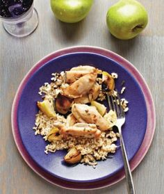 Healthy Roasted Apple and Chicken Thigh Recipe