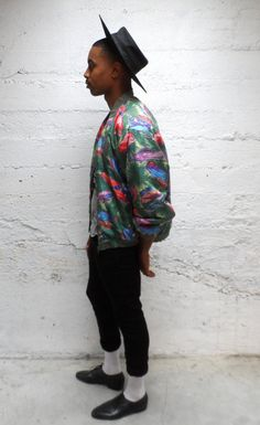 Cadillacs And Jungles Vintage Silk Jacket by October18th on Etsy, $32.00