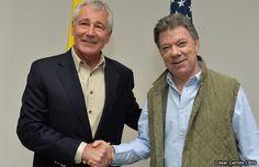 Hagel se reúne con Juan Manuel Santos