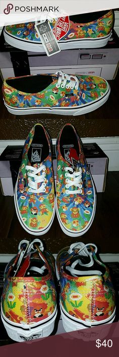 Authentic Vans Authentic Vans (Nintendo) Super Mario Bros Men's Size: 7.0 Women's Size: 8.5 *New With Box  (Box is slightly damaged as seen in last photo) Vans Shoes Sneakers