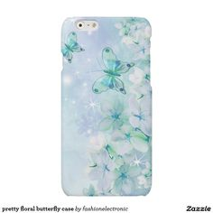 pretty floral butterfly case