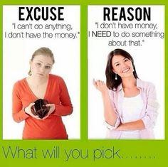 Quit making excuses! In order to change your current situation you have to be willing to try something new!! If you really want to make money off of this you will!!! The harder you work it the more you will make!!! Join my team and I will help you along the path to financial freedom!!!! Message me for details! 229.630.7987 / http://www.charisseethomas.com #nodebt #noexcuses #homebusiness #makingmoney #dreams #debtfree #personalfreedom #home #family #fun #happy #summer #amazing