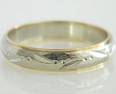 Hey, I found this really awesome Etsy listing at https://www.etsy.com/listing/240470270/vintage-14k-white-yellow-gold-mens