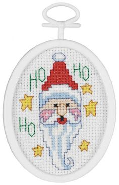 Ho! Ho! Ho! This Counted Cross Stitch Mini Kit is a great craft project for crafters to make for the holidays.