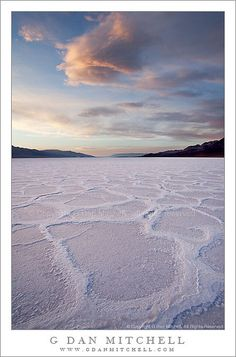 Salt Flats near Badwater. Death Valley National Park, CA, March Death Valley National Park, Sea Level, First World, Worlds Largest, National Parks, March, Clouds, Flats, Salar De Uyuni
