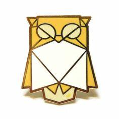 Owl Origami Pin #owl #origami #pin