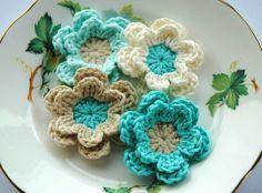 Crochet Flowers   Flickr - Photo Sharing!
