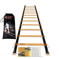 Buy Scandinavian Sports Agility Ladder - 12 Adjustable Rungs 19 Feet - Agility & Speed Training Kit - Quickness Training Equipment for Faster Footwork and Better Movement Skills at Discounted Prices ✓ FREE DELIVERY possible on eligible purchases. Training Kit, Agility Training, Speed Training, Basketball Training Equipment, Sports Training, Football Workouts, Nike Football, Vertical Jump Training, Basketball Tricks