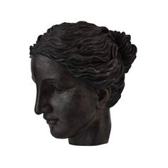 "Ren Wil STA398 Patras 9.5"" High Decorative Classical Statue Antique ($121) ❤ liked on Polyvore featuring home, home decor, fillers, black fillers, decor, accents, antique bronze, statues & figurines, black home decor and black figurines"