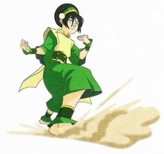 Avatar: The Last Airbender Toph having fun with the guys (at least in the episode this pic is from she is lol)