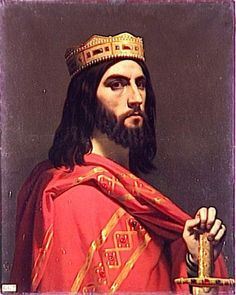 The last King of the Royal Merovingian Line to wield any real power - King Dagobert I, 605-638; my 45th great grandfather.