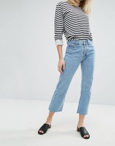 Dr Denim Meadow Mid Rise Crop Flare Jean