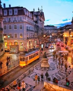 Chiado night 🚋 ~ Lisbon, Portugal Photo: Congrats 💖 Founders: 🚩Have you ever visited this enchanting city? Lisbon Tram, Lisbon Tours, Portugal Travel Guide, Portuguese Culture, S Bahn, Voyage Europe, Destination Voyage, Spain And Portugal, Vacation Places