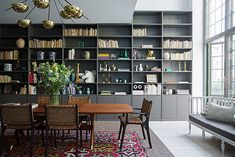 The Apartment Stockholm by Dusty Deco, Walles & Walles, Polstjernan antik and Belenius/Nordenhake. Living Room Inspiration, Interior Inspiration, Library Inspiration, Gravity Home, Interior Decorating, Interior Design, Big Houses, Living Room Interior, Dining Area