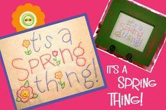 Its a Spring Thing - Stitchery Pattern