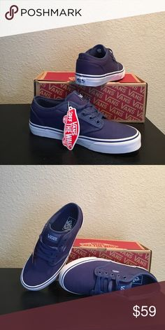 e5ae8b165b Vans Navy Blue Atwood Shoes new Men s 7.5 New with box Vans Shoes Athletic  Shoes