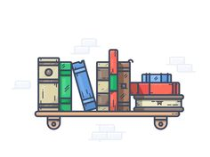 Bookshelf by Alexander Kunchevsky #Design Popular #Dribbble #shots