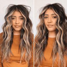 Face Frame Highlights, Brown Hair With Highlights, Brown Hair Balayage, Brown Blonde Hair, Face Framing Hair, Shampoo For Damaged Hair, Hair Contouring, Short Wavy Hair, Cool Hair Color