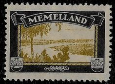+ Memelland German Lost Colonies Mourning Label Seal View of Landscape MH