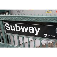 New York City Subway in Mint Green 8x10 Fine Art Photograph ❤ liked on Polyvore